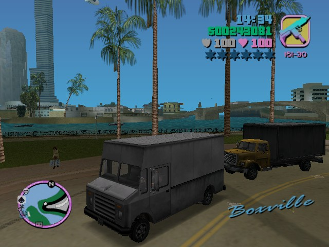 GTA Vice City: vehicle screenshots: cars, cabs, trucks, mc's